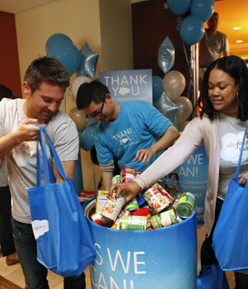 Volunteers at Dreamforce 2014