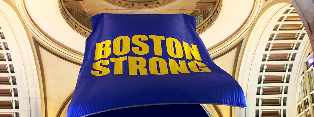 Boston Strong flag