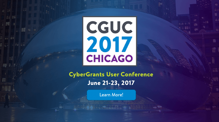 CyberGrants User Conference in Chicago, June 21-23 2017. Learn More!